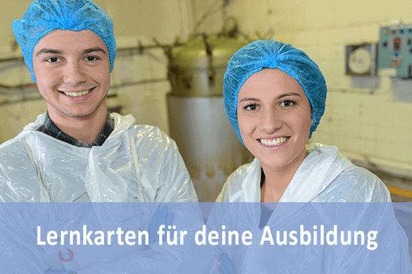 Lernkarten Fachkraft für Lebensmitteltechnik für die Prüfungsvorbereitung