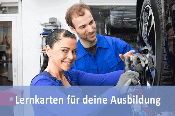 Lernkarten Kraftfahrzeugmechatroniker KFZ für die Prüfungsvorbereitung