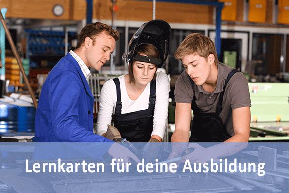 Lernkarten Metallbauer FR Konstruktionstechnik für die Prüfungsvorbereitung