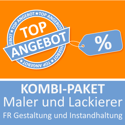 Kombi-Paket Maler und Lackierer FR Gestaltung und Instandhaltung - Lernkarten