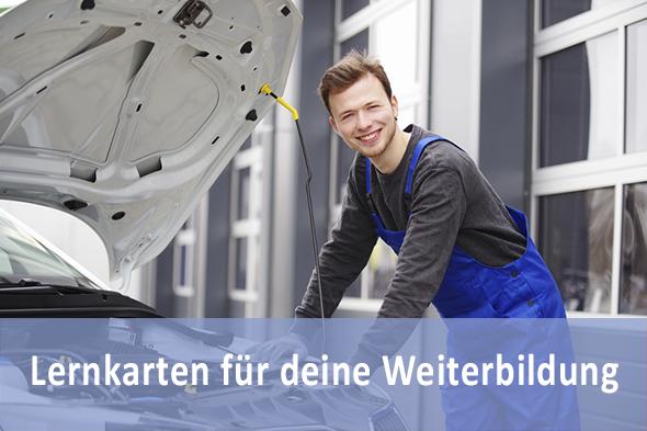 Lernkarten KFZ Servicetechniker Prüfungsvorbereitung