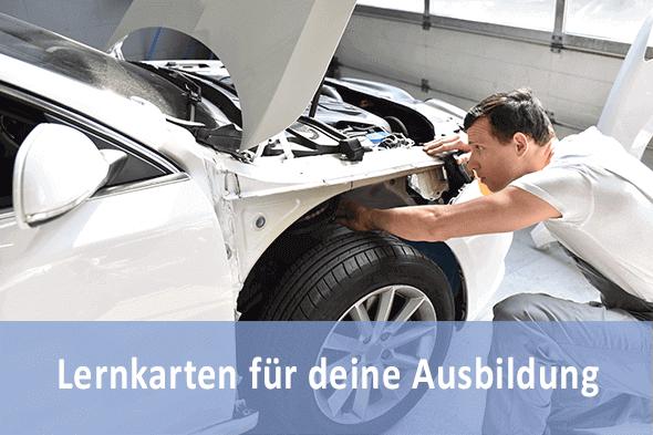 Lernkarten Karosserie- und Fahrzeugbaumechaniker für die Prüfungsvorbereitung