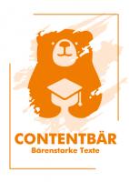 Contentbär - Poster Orange