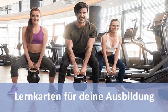 Lernkarten Sport- und Fitneskaufmann für die Prüfungsvorbereitung
