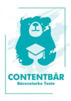 Contentbär - Poster Türkis