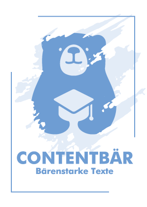 Contentbär - Poster Blau