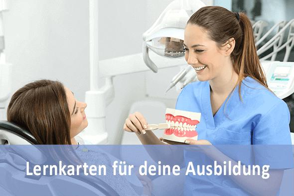 Lernkarten Zahnmedizinischer Fachangestellter für die Prüfungsvorbereitung